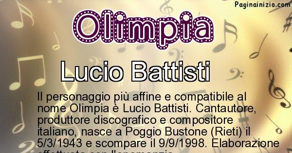 Olimpia - Personaggio storico associato a Olimpia