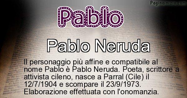 Pablo - Personaggio storico associato a Pablo