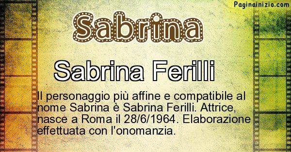 Sabrina - Personaggio storico associato a Sabrina