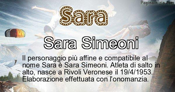 Sara - Personaggio storico associato a Sara
