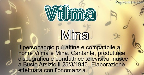 Vilma - Personaggio storico associato a Vilma