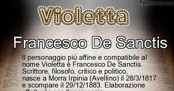 Violetta - Personaggio storico associato a Violetta