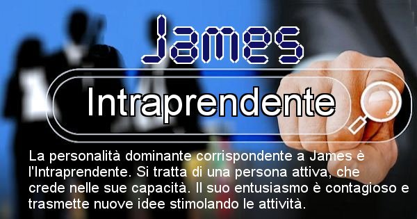 James - Personalità associata al Nome James
