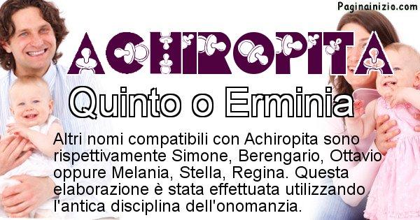 Achiropita - Nome ideale per il figlio di Achiropita
