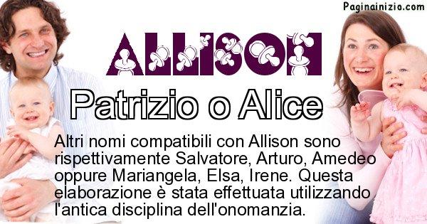 Allison - Nome ideale per il figlio di Allison