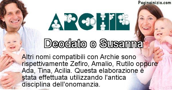 Archie - Nome ideale per il figlio di Archie