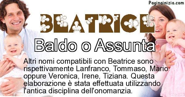 Beatrice - Nome ideale per il figlio di Beatrice