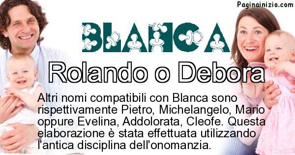 Blanca - Nome ideale per il figlio di Blanca