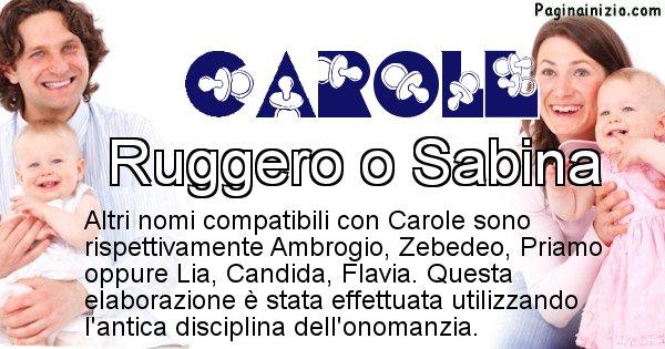 Carole - Nome ideale per il figlio di Carole