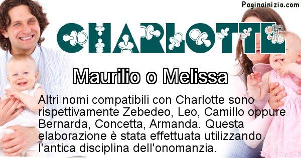 Charlotte - Nome ideale per il figlio di Charlotte