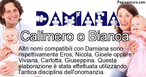 Damiana - Nome ideale per il figlio di Damiana