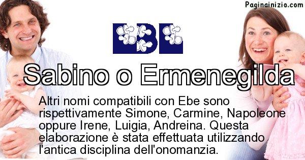 Ebe - Nome ideale per il figlio di Ebe