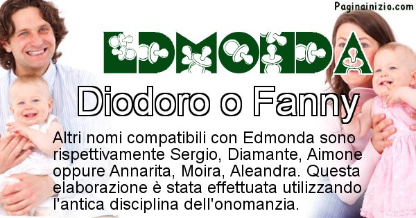 Edmonda - Nome ideale per il figlio di Edmonda