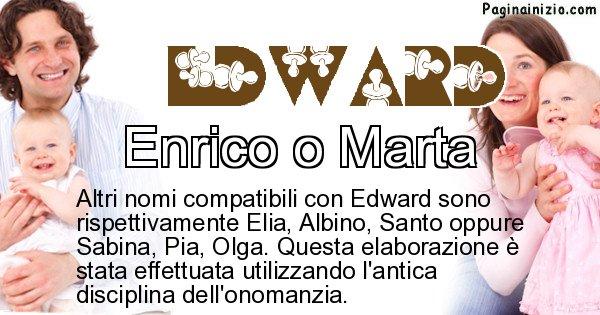 Edward - Nome ideale per il figlio di Edward
