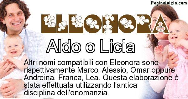 Eleonora - Nome ideale per il figlio di Eleonora
