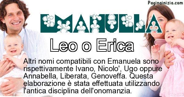 Emanuela - Nome ideale per il figlio di Emanuela