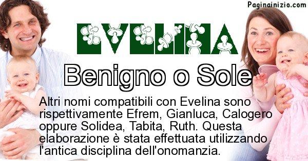 Evelina - Nome ideale per il figlio di Evelina