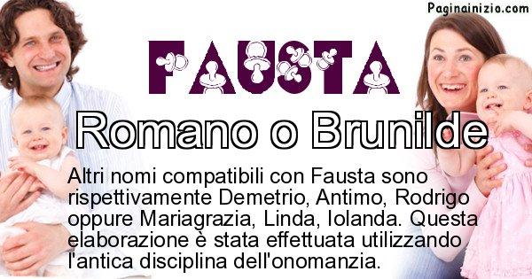 Fausta - Nome ideale per il figlio di Fausta