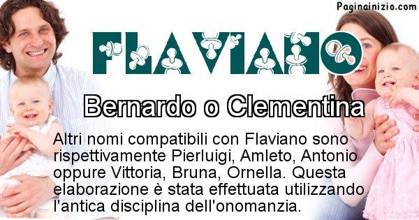 Flaviano - Nome ideale per il figlio di Flaviano