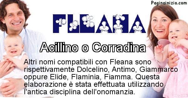 Fleana - Nome ideale per il figlio di Fleana