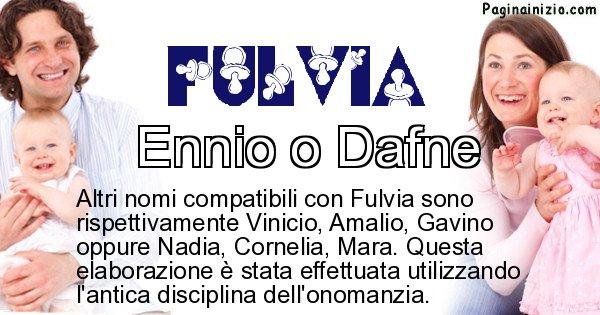 Fulvia - Nome ideale per il figlio di Fulvia