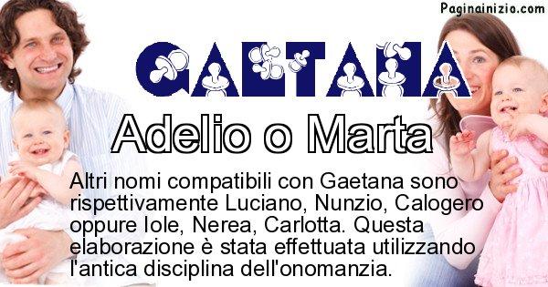 Gaetana - Nome ideale per il figlio di Gaetana