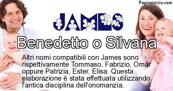 James - Nome ideale per il figlio di James