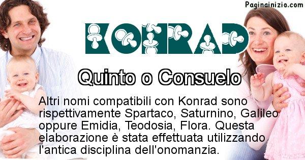 Konrad - Nome ideale per il figlio di Konrad