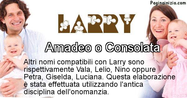 Larry - Nome ideale per il figlio di Larry