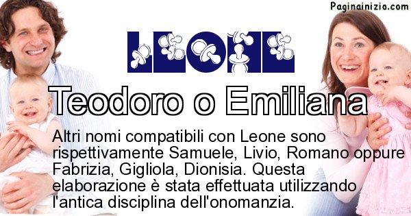 Leone - Nome ideale per il figlio di Leone