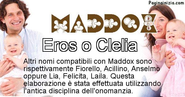 Maddox - Nome ideale per il figlio di Maddox