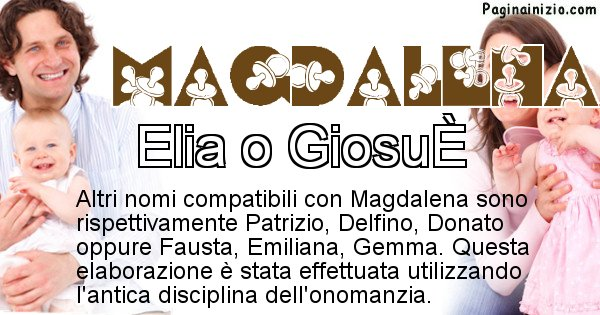 Magdalena - Nome ideale per il figlio di Magdalena