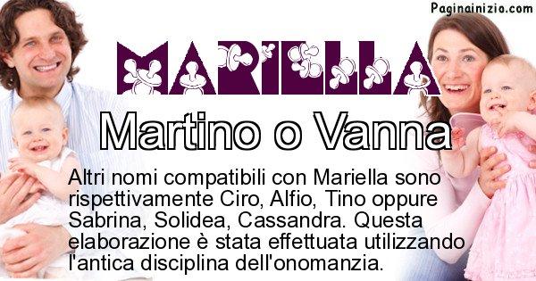 Mariella - Nome ideale per il figlio di Mariella