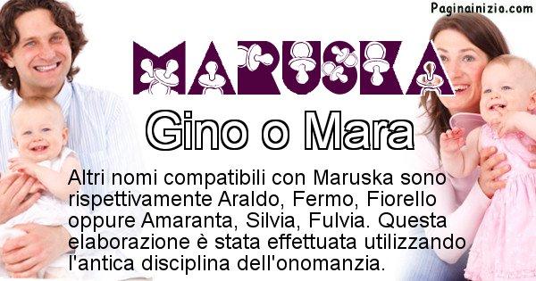 Maruska - Nome ideale per il figlio di Maruska