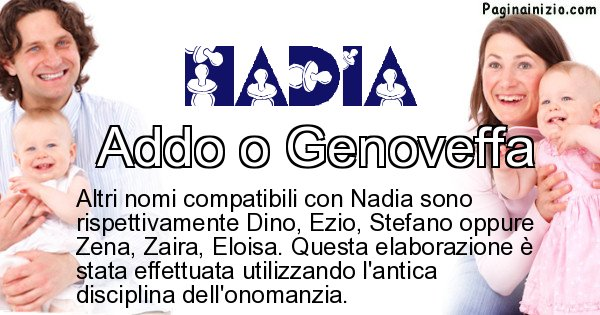 Nadia - Nome ideale per il figlio di Nadia