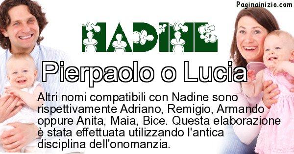 Nadine - Nome ideale per il figlio di Nadine