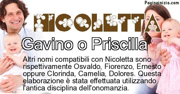 Nicoletta - Nome ideale per il figlio di Nicoletta