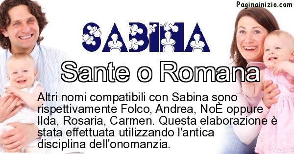 Sabina - Nome ideale per il figlio di Sabina