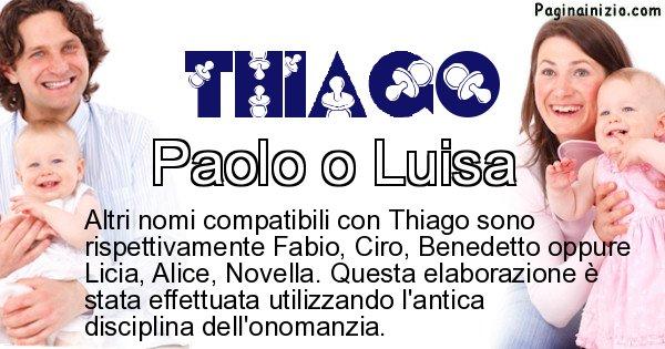 Thiago - Nome ideale per il figlio di Thiago
