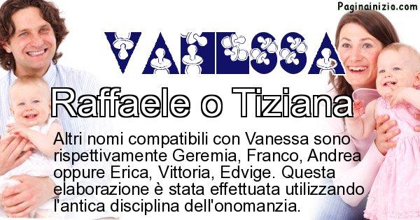 Vanessa - Nome ideale per il figlio di Vanessa