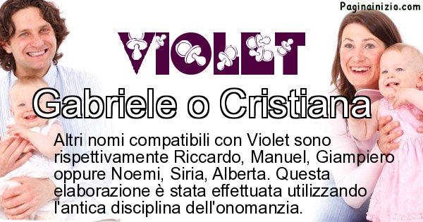 Violet - Nome ideale per il figlio di Violet