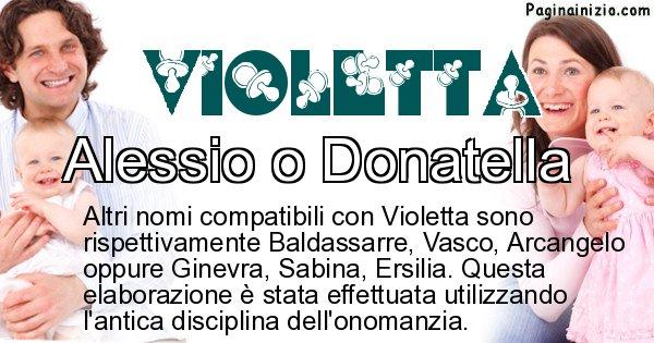 Violetta - Nome ideale per il figlio di Violetta