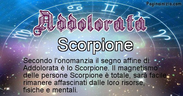 Addolorata - Segno zodiacale affine al nome Addolorata