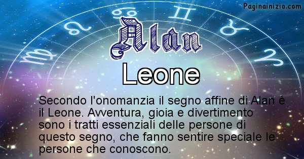 Alan - Segno zodiacale affine al nome Alan