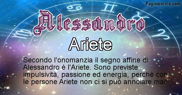 Alessandro - Segno zodiacale affine al nome Alessandro