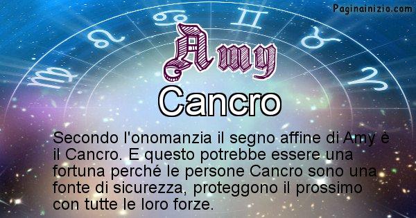 Amy - Segno zodiacale affine al nome Amy
