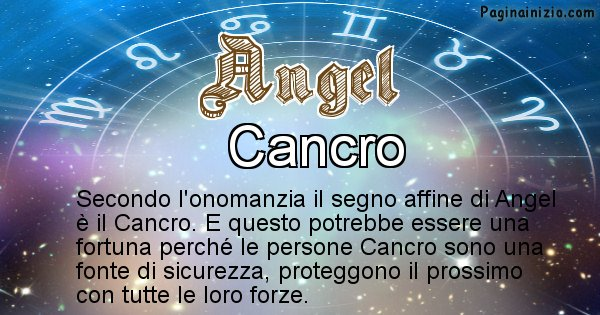Angel - Segno zodiacale affine al nome Angel