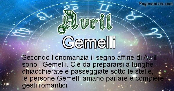 Avril - Segno zodiacale affine al nome Avril