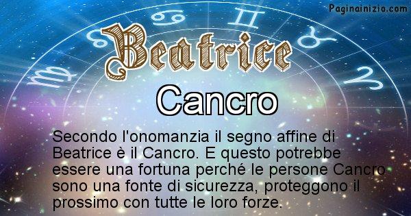 Beatrice - Segno zodiacale affine al nome Beatrice