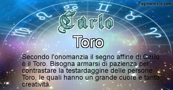 Carlo - Segno zodiacale affine al nome Carlo